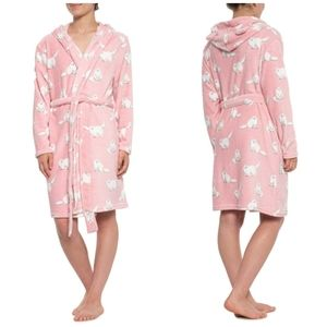 munki munki • Pink Fluffy Cat & Sock Monkey Robe